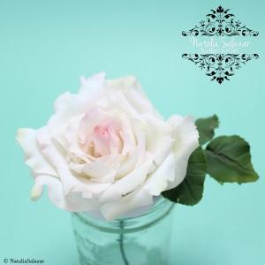 Rosa en pasta de fondant